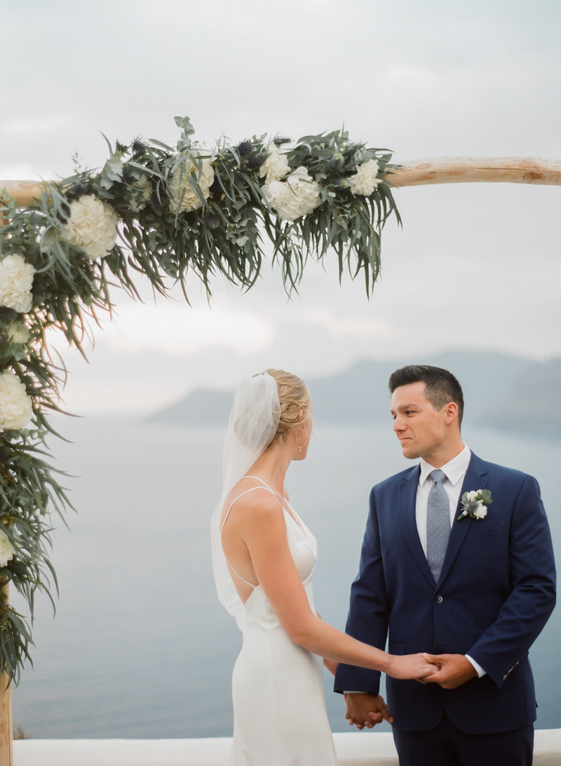 Emotional Ceremony in Santorini