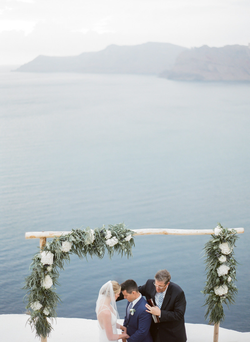 Ceremony in Santorini