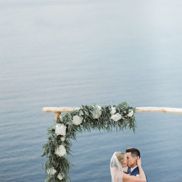 Intimate Wedding in a bohemian style in Santorini