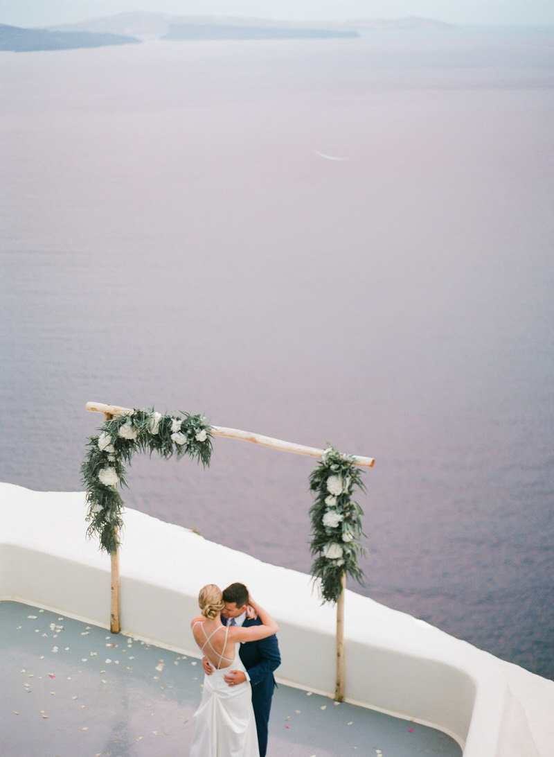 First Dance in Santorini