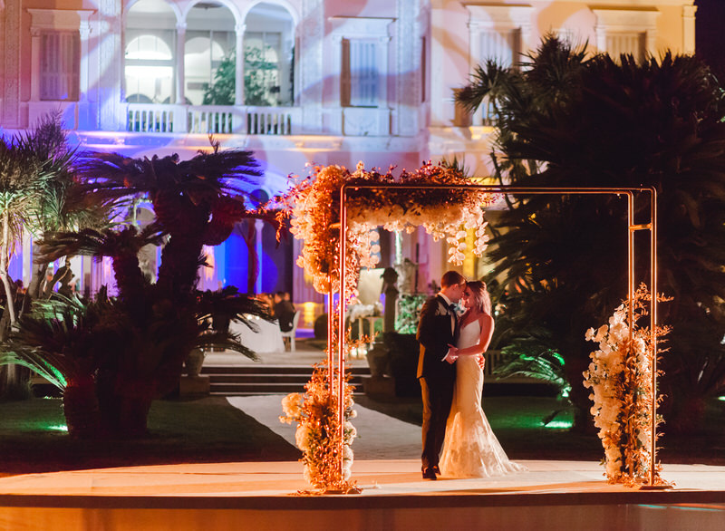 Destination Outdoor Wedding at Villa Ephrussi De Rothschild