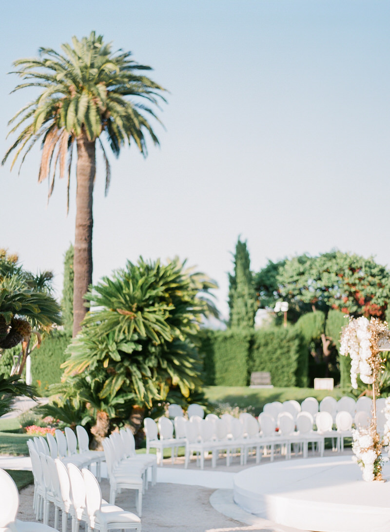 Outdoor ceremony at Villa Ephrussi de Rothschild