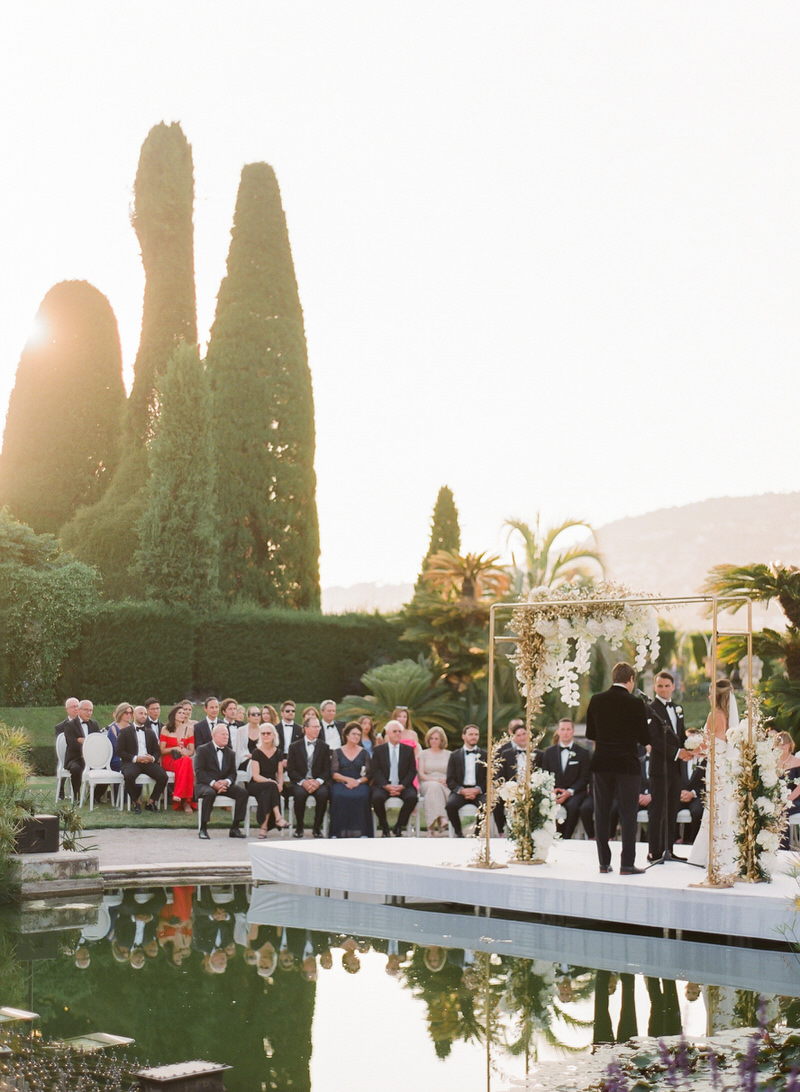 Outdoor ceremony at Villa Ephrussi de Rothschild