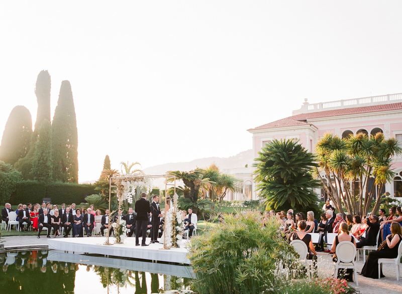 Outdoor ceremony at Villa Ephrussi de Rothschild Wedding Photography