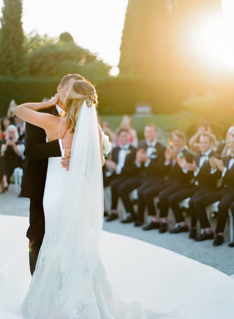 Outdoor ceremony at Villa Ephrussi de Rothschild Wedding Photographer